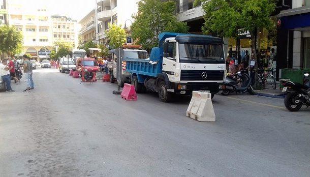 Κλειστή η οδός Μεγ. Αλεξάνδρου-Τα έργα της ΔΕΥΑΛ θα διαρκέσουν ένα μήνα