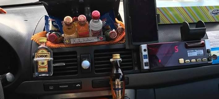 Στο ταξί του κ. Μάκη θα φας και πρωινό! Ο ταξιτζής που κερνάει τους πελάτες ό,τι λιχουδιά υπάρχει