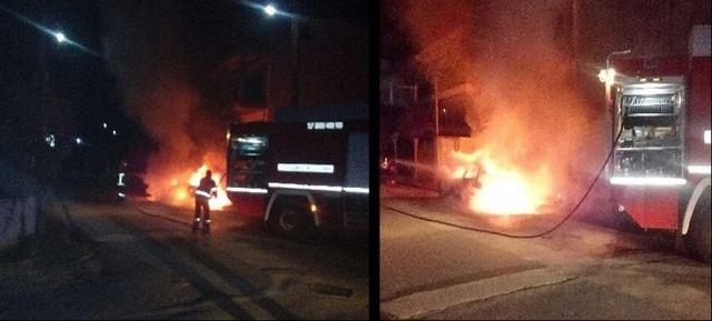 Του έκαψε το αυτοκίνητο (ΦΩΤΟ)