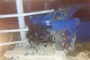 Τροχαίο τα ξημερώματα στη Λάρισα: Αυτοκίνητο «καρφώθηκε» στα κιγκλιδώματα και βγήκε εκτός δρόμου (ΦΩΤΟ)