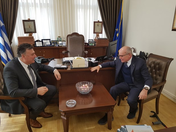 Με τον Ιταλό Πρέσβη ο δήμαρχος Ελασσόνας