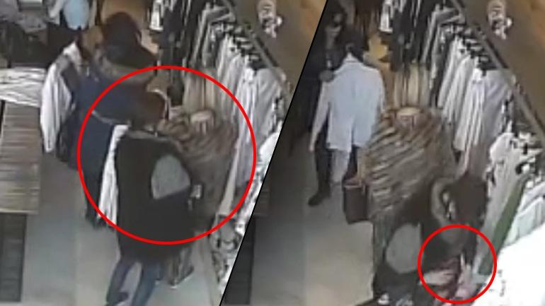 Κλοπή πορτοφολιού γυναίκας σε κατάστημα ρούχων καταγράφηκε σε κλειστό κύκλωμα