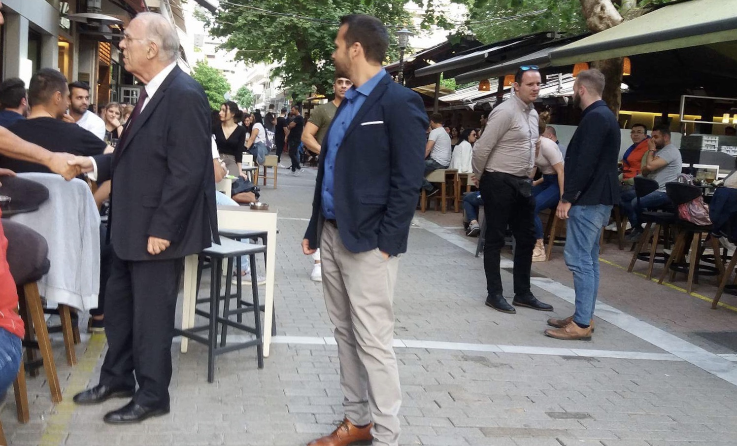 Στη Λάρισα βρέθηκε ο πρόεδρος της Ένωσης Κεντρώων Β.Λεβέντης την Κυριακή εν' όψει της ετήσιας συνέλευσης του ΣΘΕΒ