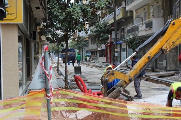 Eργα ανακατασκευής στην οδό Ηπείρου - Κλειστή για τα οχήματα την Κυριακή