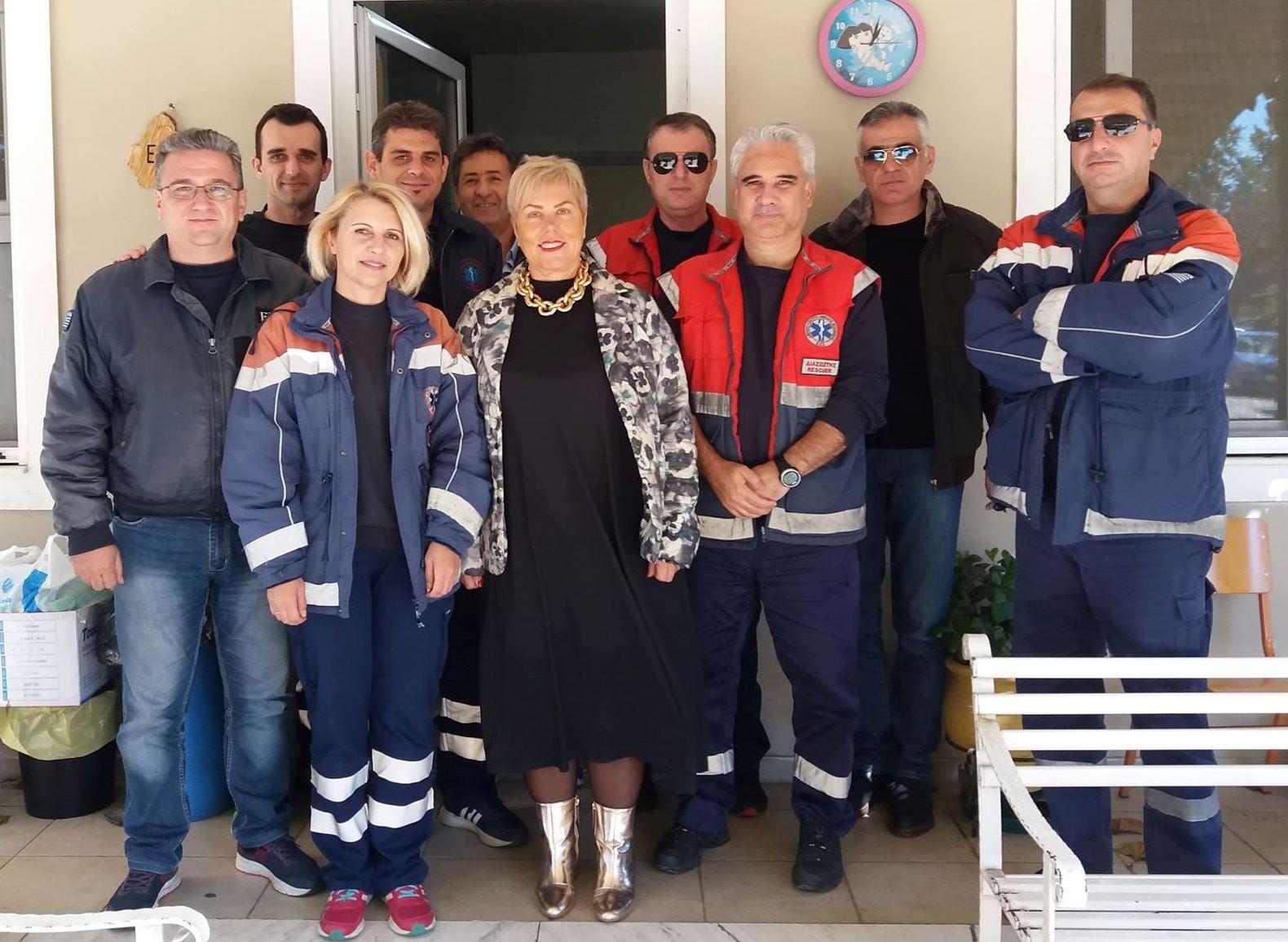 Συνάντηση με τους εργαζόμενους στον τομέα Καρδίτσας πραγματοποίησε η διευθύντρια του ΕΚΑΒ Λάρισας Κα Αυγέρη