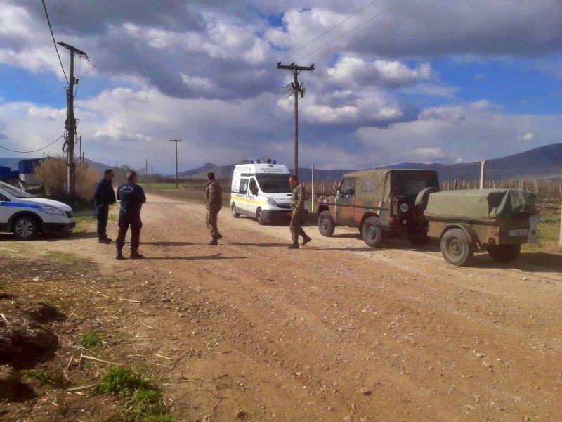 Βλήματα βρέθηκαν σε χωράφι έξω από τη Λάρισα  (ΦΩΤΟ)
