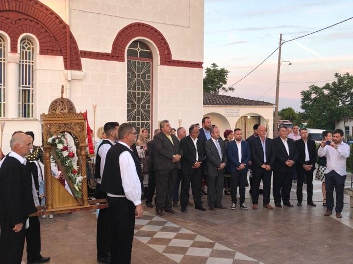 Στο Αρμένιο για την περιφορά της ιεράς εικόνας Αγίων Κωνσταντίνου και Ελένης ο Γιώργος Κατσιαντώνης