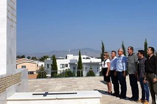 «Θανάσης Νασιακόπουλος: Ο Τύμβος της Μακεδονίτισσας στη Λευκωσία αποτελεί πηγή έμπνευσης για συστράτευση στο δίκαιο αγώνα των Κυπρίων»