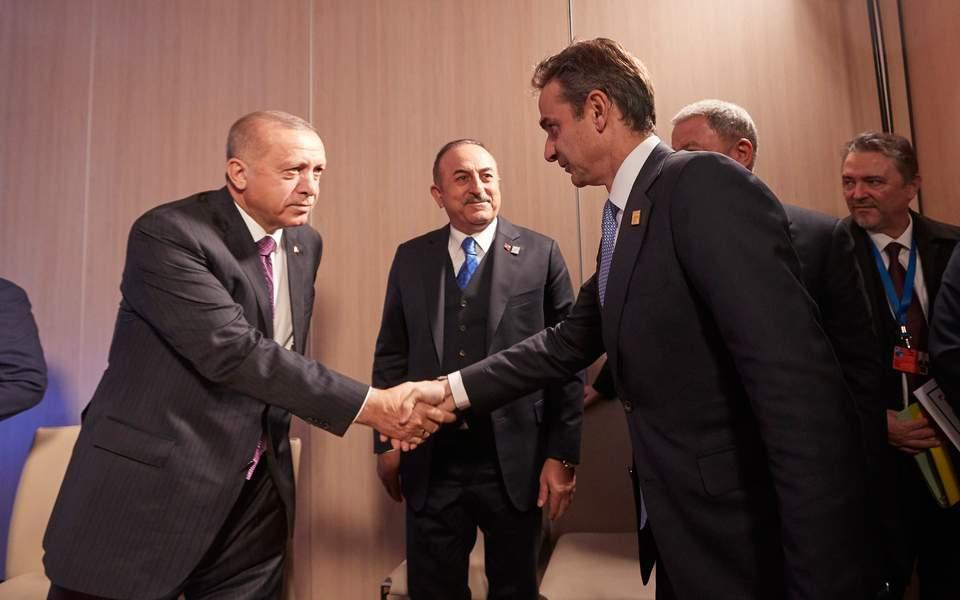 Συνομιλία Μητσοτάκη - Ερντογάν: «Ανοικτοί δίαυλοι επικοινωνίας»