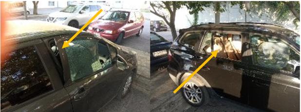 Καταστροφές σε αυτοκίνητα εργαζομένων στο πάρκινγκ του Π.Ν.Λάρισας από αγνώστους