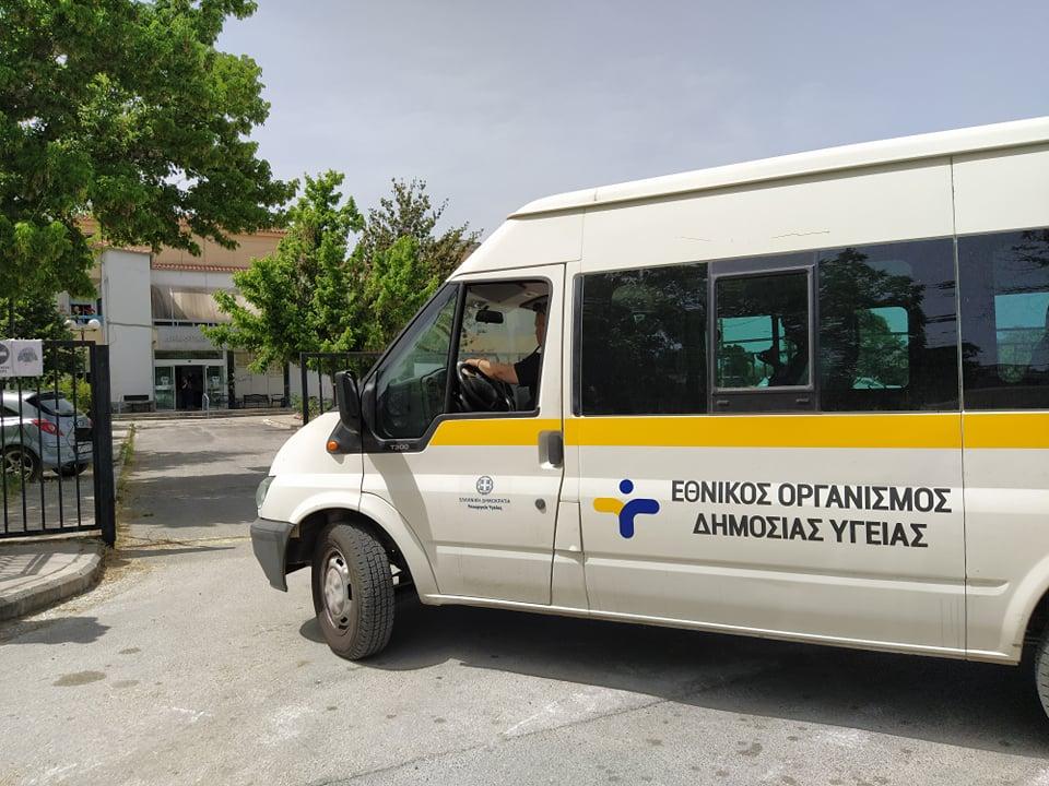 Στήθηκαν σκηνές ιατρείων εκστρατείας στο Νοσοκομείο του Βόλου
