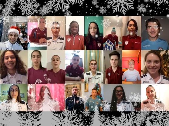 Οι ευχές της Γυναικείας ομάδας ποδοσφαίρου της ΑΕΛ (Video)