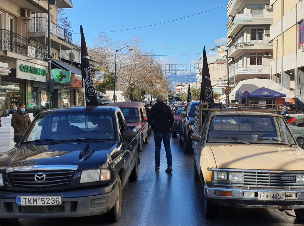 Στους δρόμους, με μικρή συμμετοχή, οι αγρότες των Τρικάλων (video)