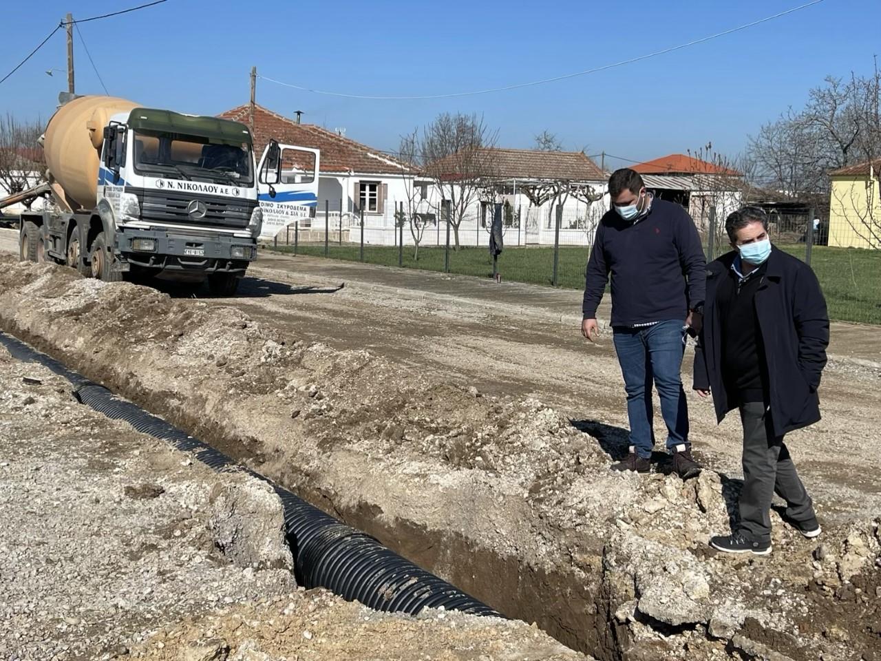 Σε εξέλιξη η κατασκευή του δικτύου αποχέτευσης ομβρίων για την αντιπλημμυρική θωράκιση στο Βασιλή