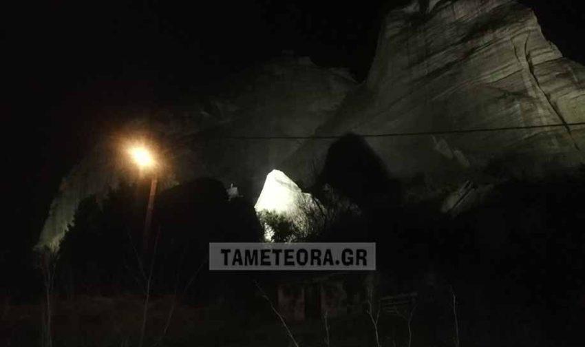 Αποκολλήθηκε βράχος των Μετεώρων από τον σεισμό