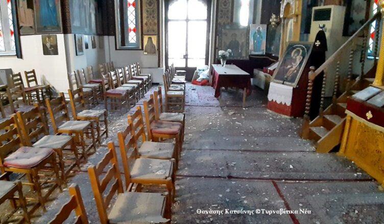 Μεγάλες ζημιές στην Παναγία του Αμπελώνα (φωτο)