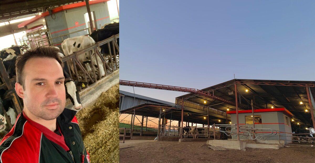 Ένας 33χρονος Λαρισαίος έφτιαξε μια ρομποτική φάρμα και οι αγελάδες πηγαίνουν μόνες τους για άρμεγμα
