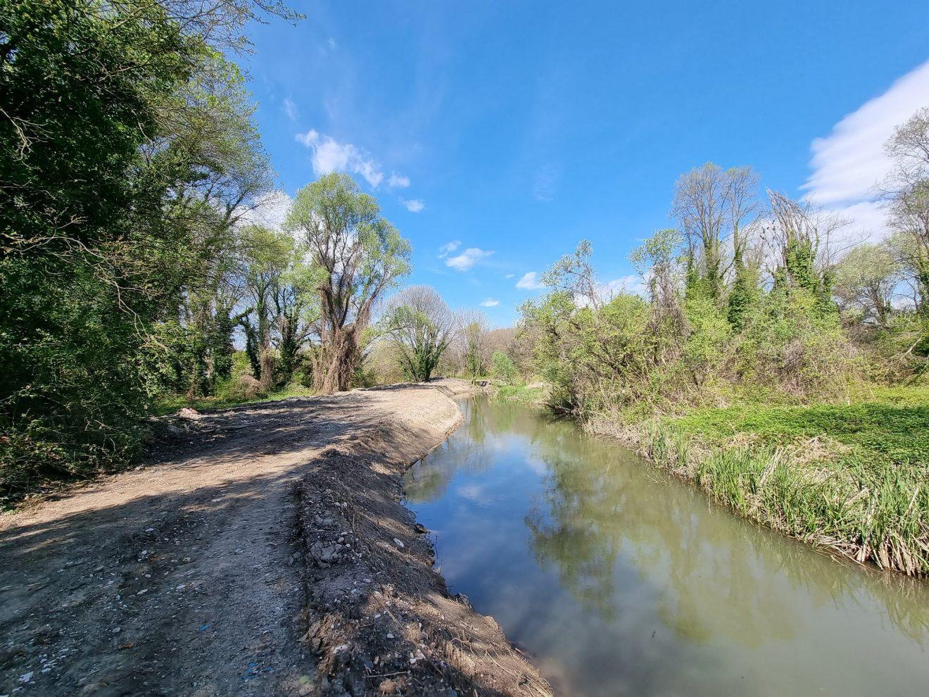 Αποκαλύφθηκε ο Αγιαμονιώτης ποταμός (εικόνες)
