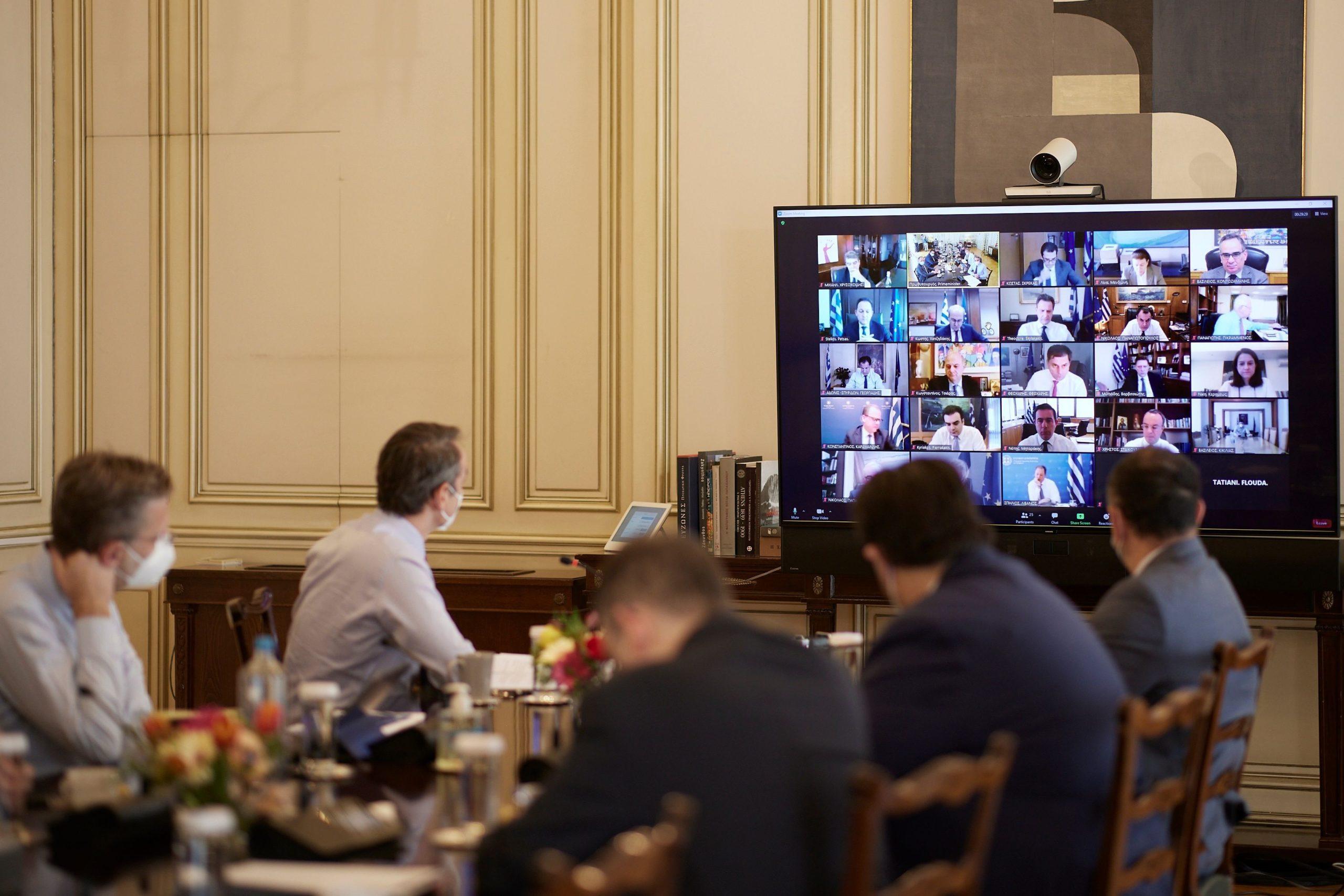 Υπουργικό μέσω τηλεδιάσκεψης υπό τον πρωθυπουργό – Τα θέματα