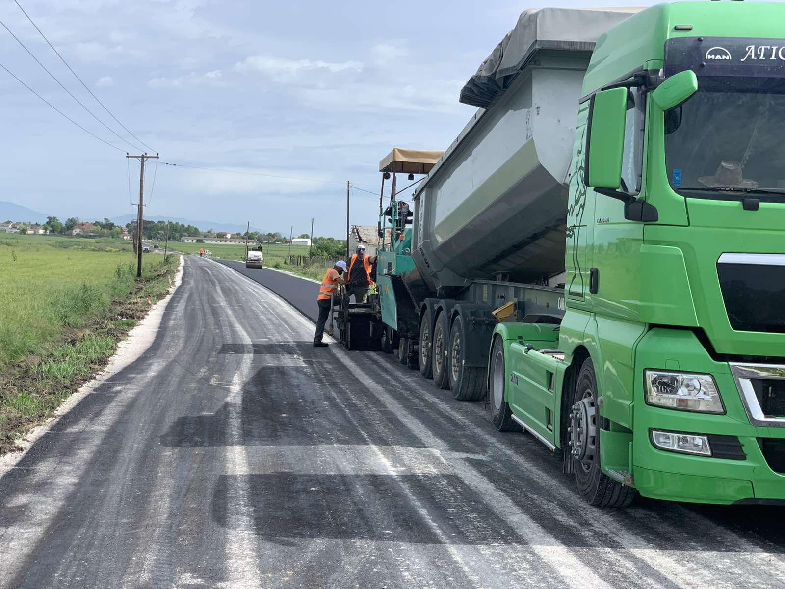 Ολοκληρώνονται από την Περιφέρεια Θεσσαλίας οι εργασίες ασφαλτόστρωσης του δρόμου Άγιοι Ανάργυροι - Άγιος Γεώργιος