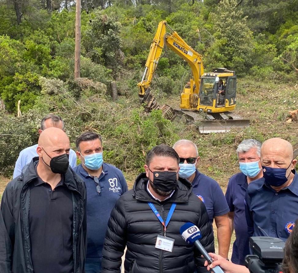 Ν. Χαρδαλιάς: Η Πολιτική Προστασία δίπλα στους τοπικούς φορείς για προληπτικά έργα αντιπυρικής προστασίας