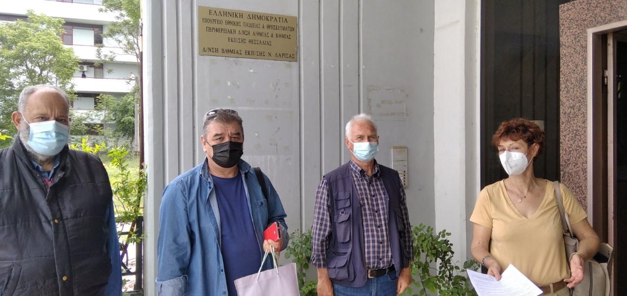 Παράσταση διαμαρτυρίας της ΠΕΑΕΑ-ΔΣΕ Παράρτημα Λάρισας στην Δευτεροβάθμια Εκπαίδευση