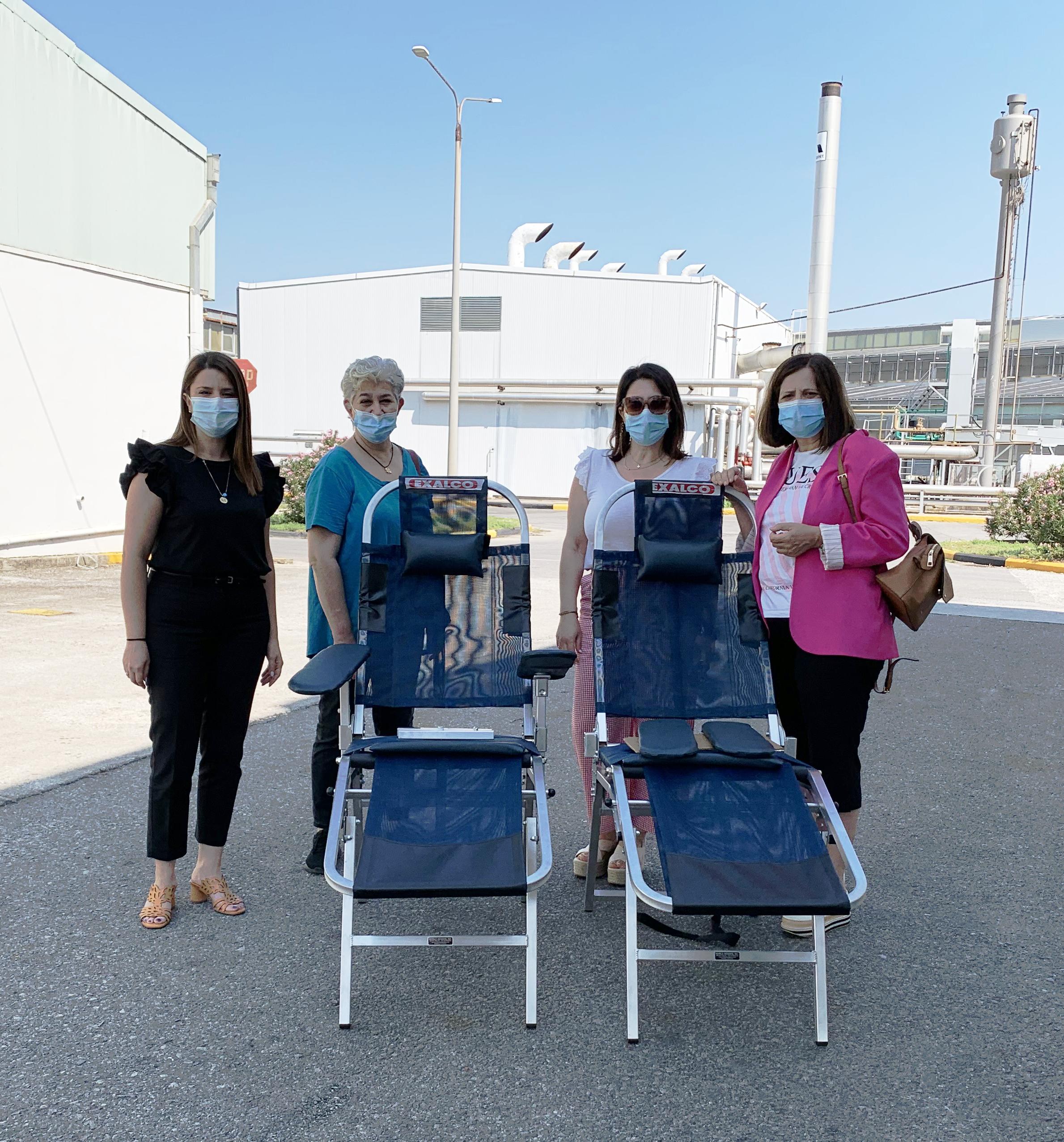 Δωρεά της EXALCO στην Υπηρεσία Αιμοδοσίας του Πανεπιστημιακού Νοσοκομείου Λάρισας.