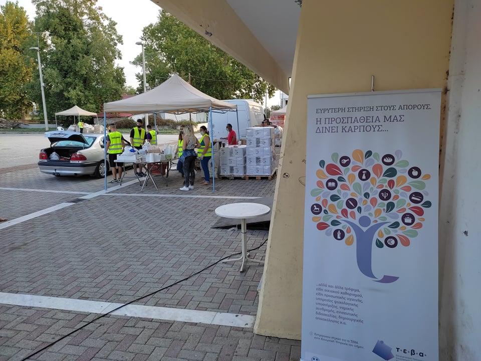 Πραγματοποιήθηκε διανομή τροφίμων για τους δικαιούχους του προγράμματος ΤΕΒΑ στο Δήμο Τυρνάβου
